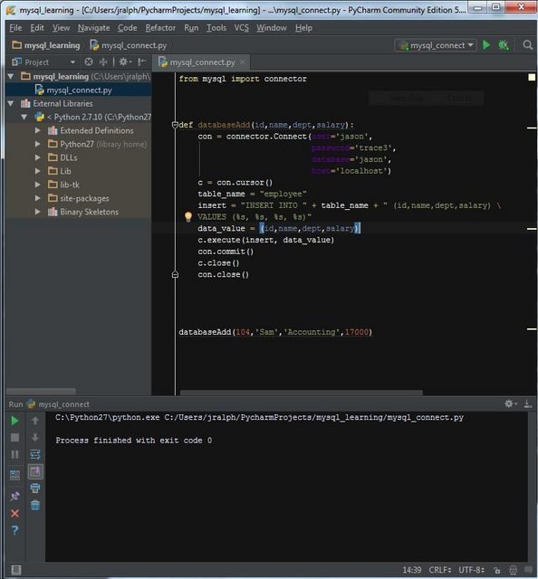 Python Mysql Connector Jason R Ralph